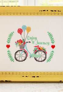 Enjoy the Journey Cross Stitch PDF Pattern