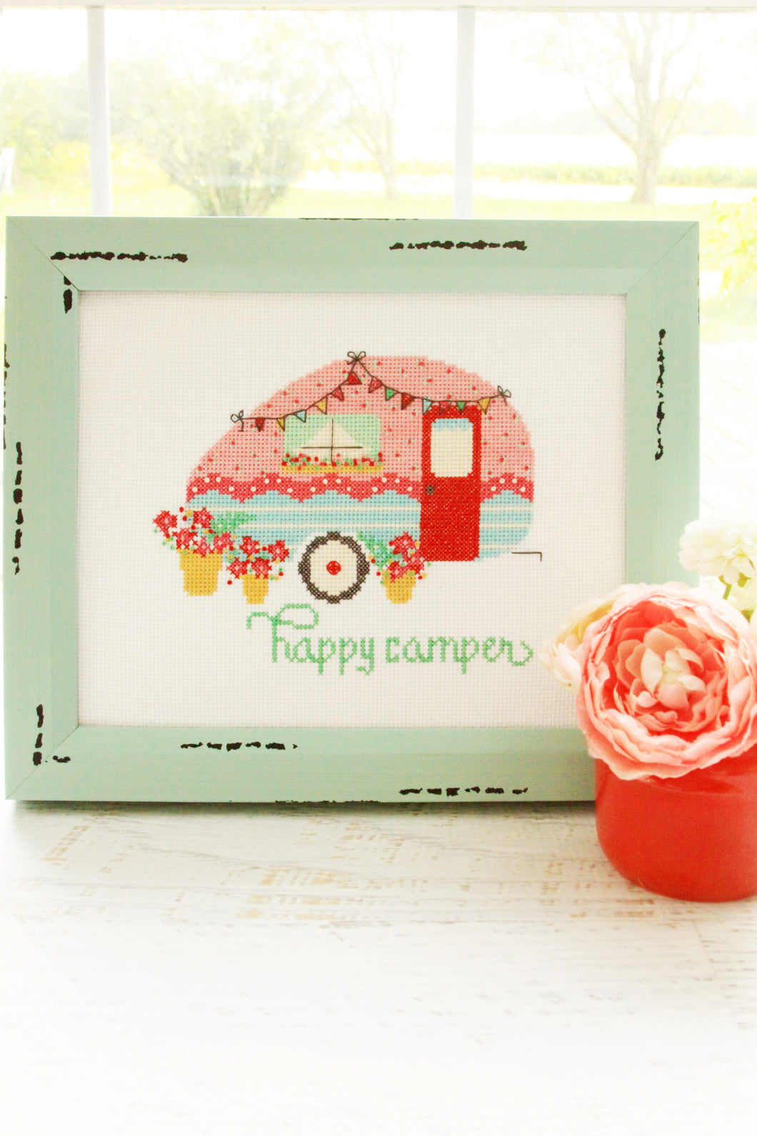 Happy Camper Cross Stitch PDF Pattern