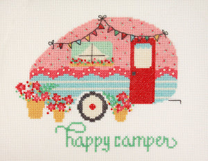 Happy Camper Cross Stitch Paper Pattern