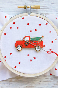 Christmas Truck Needle Minder