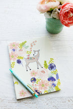 Floral Deer Vinyl Sticker