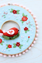 Winter Embroidery Hoop Wreath Pattern