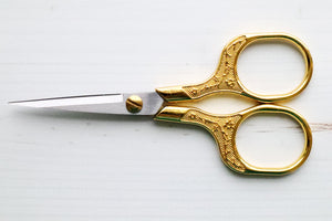 Pretty Gold Embroidery Scissors