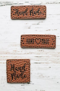 Hand Made Leather Label Set