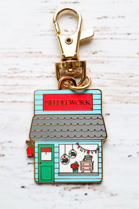 Needlework Shop Main Street Enamel Charm