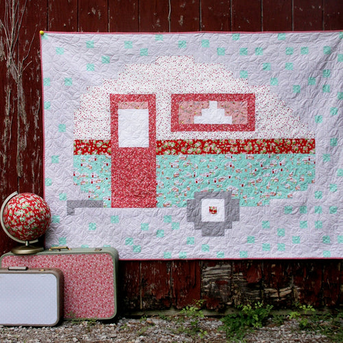 Pixelated Camper Quilt Pattern DOWNLOAD