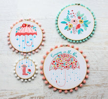 Singing in the Rain Floral Embroidery Pattern