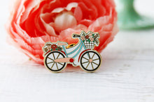 Floral Vintage Bicycle - ENAMEL PIN
