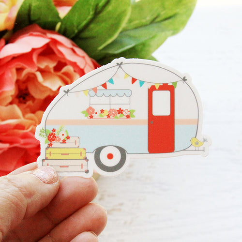 Retro Camper Vinyl Sticker