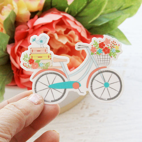 Vintage Bicycle Vinyl Sticker