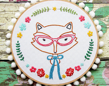 Fox Portrait PDF Embroidery Pattern