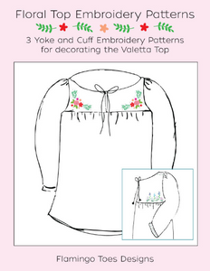 Floral Blouse Embroidery Patterns