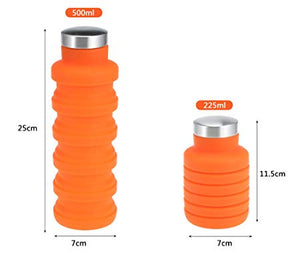 Silicone Expandable and Foldable Drinking Water Bottle