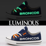 Glow In The Dark Denver Bronco Chuck Taylors