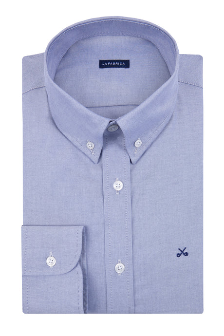 Camisa Oxford Azul Grisaceo