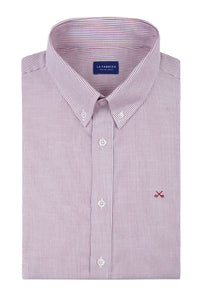Camisa Oxford Raya Burdeos