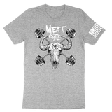 COW SKULL AND BARBELLS TEE