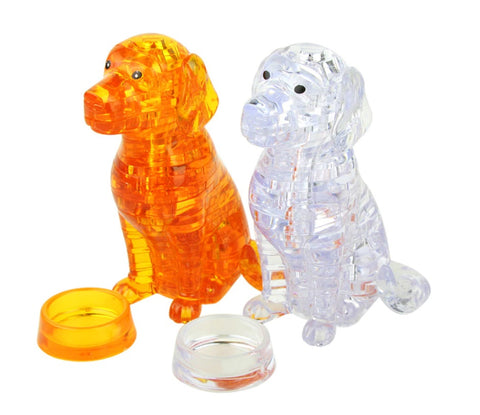 3D Crystal Puzzle Cute Dog orange