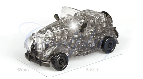 3D Crystal Puzzle Car gray