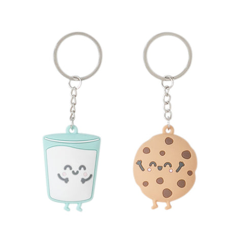SET 2 LLAVEROS MR. WONDERFUL - Galleta y Vaso de Leche.