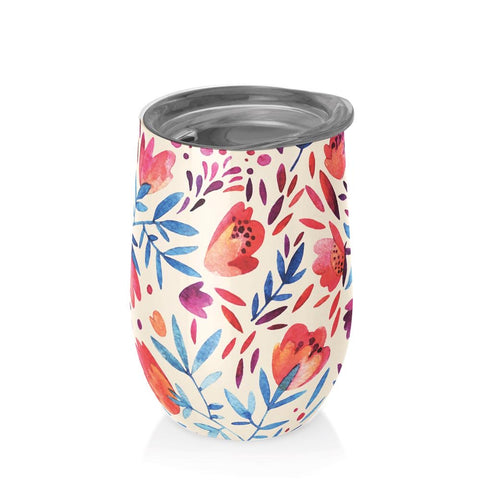 Vaso Térmico WATERCOLOUR FLOWERS - Bioloco