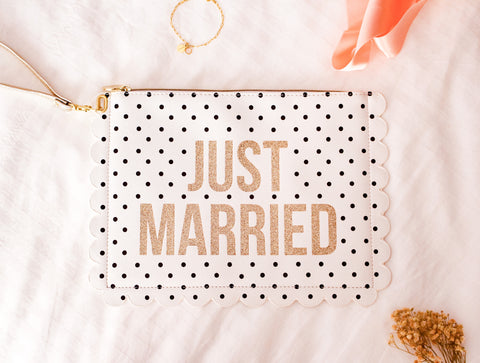 "Bolsa de mano ""JUST MARRIED"""