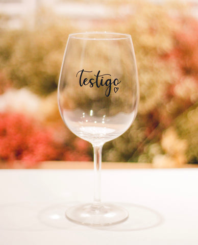 "COPA DE VINO ""TESTIGO""- Be Love"