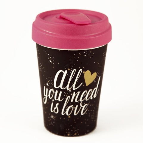 Vaso ALL YOU NEED IS LOVE BambooCup - Chic Mic