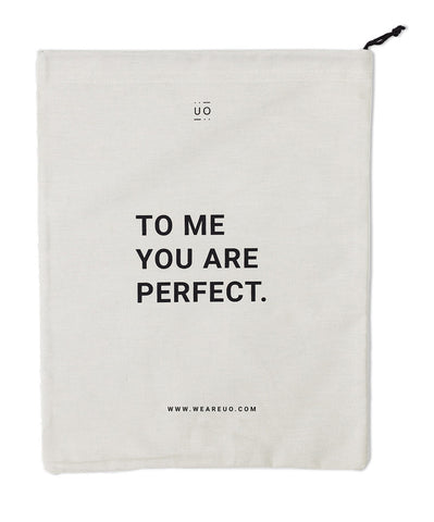 Bolsa de tela TO ME YOU ARE PERFECT - UO*