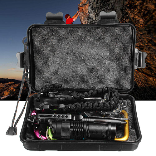 17 in 1 SOS Emergency Survival Equipment Kit For Tactical Outdoor Camping Hiking