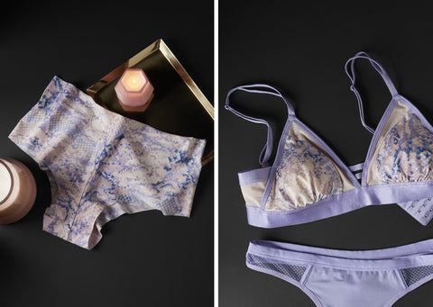 The Creator Collection microfiber bras, bralettes, and undies