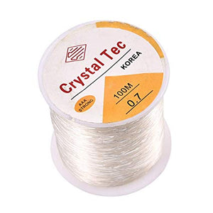 Elastic Stretch Silicon Elastic Thread  - 0.7 Crystal Tec (100 meters)
