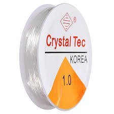 Elastic Stretch Silicon Elastic Thread  - 1.0 Crystal Tec (small)