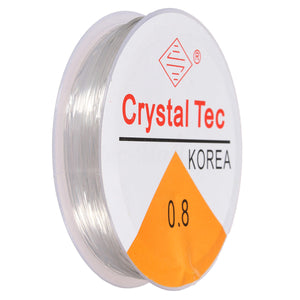 Elastic Stretch Silicon Elastic Thread  - 0.8 Crystal Tec (small)