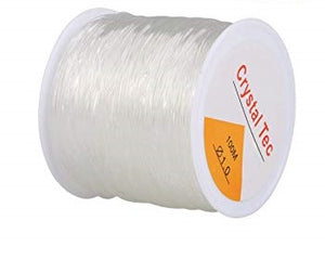 Elastic Stretch Silicon Elastic Thread  - 1.0 Crystal Tec (100 meters)