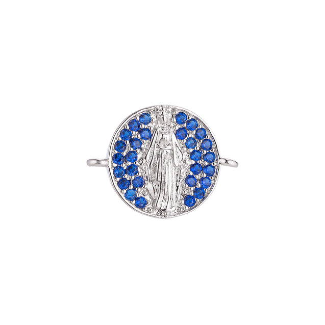Mother Mary Medal with Crystal