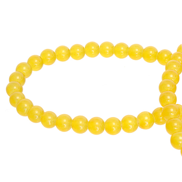Yellow Round Glass Beads Size 4 mm / 6 mm / 8 mm / 10 mm