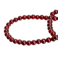 Garnet Red Round Glass Beads Size 4 mm / 6 mm / 8 mm / 10 mm