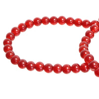 Dark Crimson Red Round Glass Beads Size 4 mm / 6 mm / 8 mm / 10 mm
