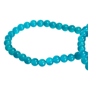 Turquoise Blue Round Glass Beads Size 4 mm / 6 mm / 8 mm / 10 mm