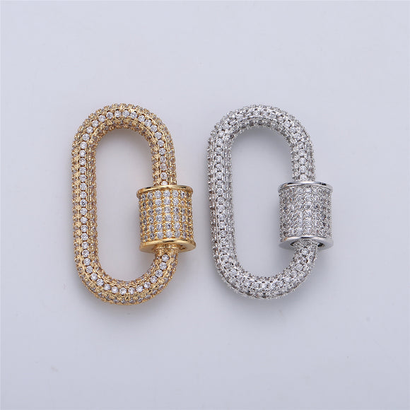 Screw Lock Oval #3 Gold / White Gold