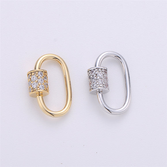 Screw Lock Oval #1 Gold / White Gold