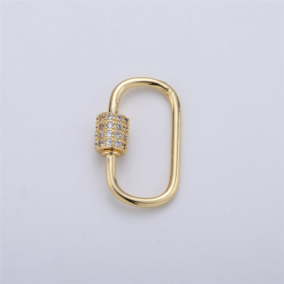 Screw Lock Oval #7 Gold / White Gold