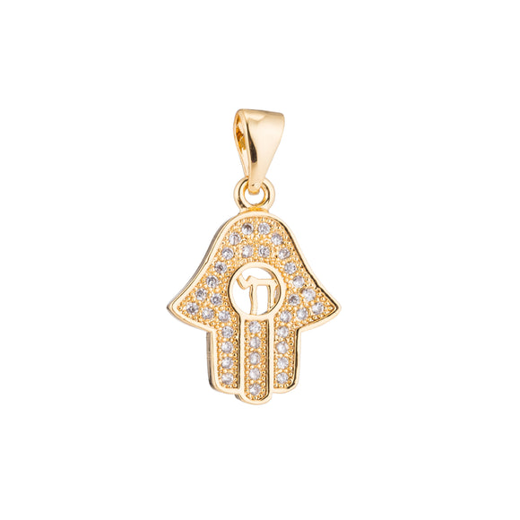 1pc Gold Evil Eye, Golden Hamsa Hand, Happy Rich Peace Safe Amulet Wish Health Necklace Pendant Charm Bead Bails Findings for Jewelry Making
