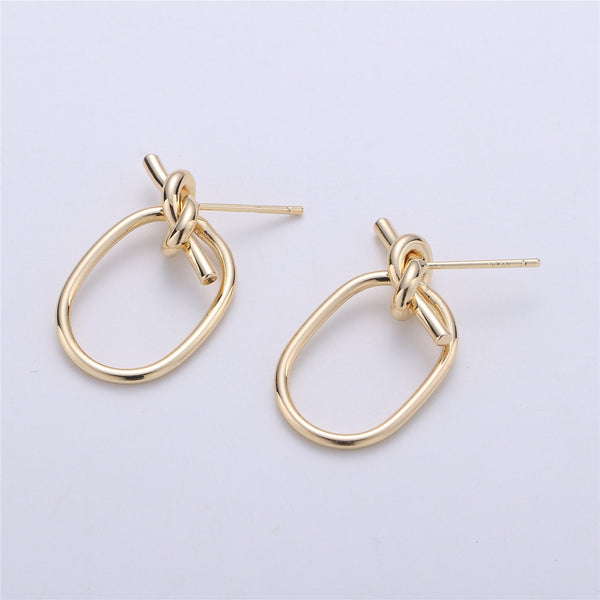 15x30mm 1 Pair of 14K Gold Filled Twist Hoop Tiny Hoop Earrings for Jewelry Making Supply Findings