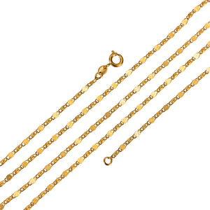 24k Gold Fill Scroll Chain Finished Chain for Necklace Making 23.6 inch 1.8 mm width Ready to Wear Chain for Supply / replacement chain