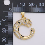 14k Gold Filled Ouroboros Pendant, Snake Pendant, Ouroboros Charm, Snake Charm, Micro Pave Ouroboros Jewelry, Snake Jewelry, Serpent Charm