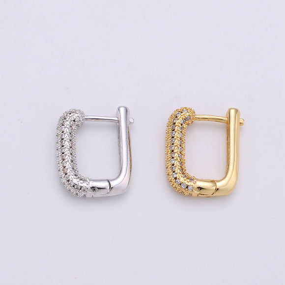 1 pair Dainty Mini Ear Huggie Hoop Earrings, GOLD SILVER micro pave cz cartilage hoops for everyday wear earring for girl Geometric Jewelry