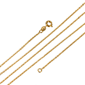 Delicate Rolo Chain - 24K Gold Filled 1mm 23 inch chain Finished Chain for Layer Necklace Jewelry Making
