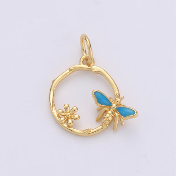 Dainty 24k Gold Filled Tiny Charms, Gold Filled Bee Charm, Gold Garden Charm ,Gold Bumblebee charm Spring Jewelry Inspired